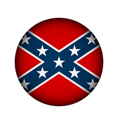 Confederate flag button vector