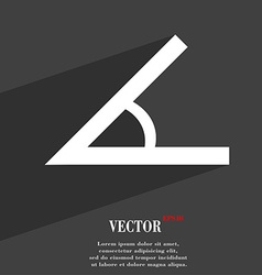 Angle 45 degrees icon symbol flat modern web vector