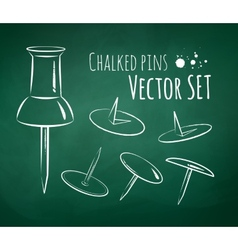 Chalkboard drawing vector