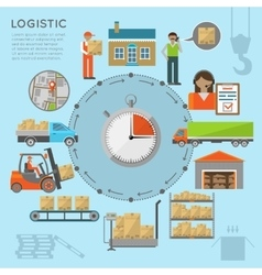 Warehouse transportation infografics vector