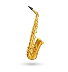 Golden saxophone vector