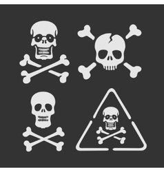 Set of symbols skull vector