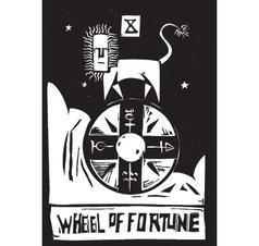 Tarot Card Wheel vector image