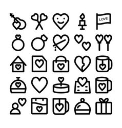 Love and romance icons 6 vector