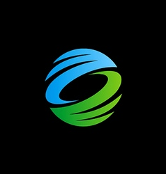 abstract circle ecology technology logo vector image