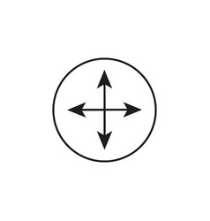 Arrow compass icon vector