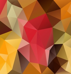 Autumn polygon triangular pattern background vector