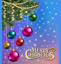 background christmas card with branches of vector image vector image