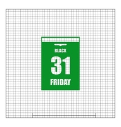 Black Friday Sale Calendar date page vector image vector image