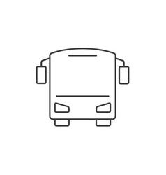 bus outline icon vector image