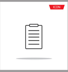 checklist line icon clipboard icon vector image vector image