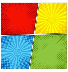 Comic book page background vector image vector image