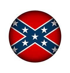 Confederate flag button vector image