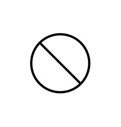 Do not entry line icon prohibition sign vector