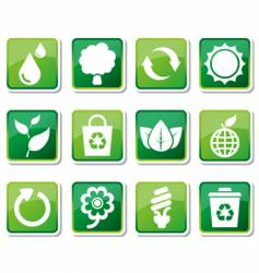 environmental friendly icons vector image vector image