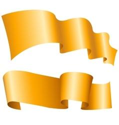 Golden ribbon vector image vector image