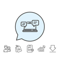 Internet messages icon chat or conversation vector
