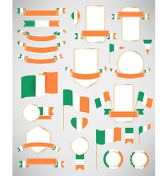 Ireland flag decoration elements vector