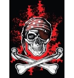 Jolly roger a pirate symbol with crossed bones vector