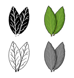 Laurus icon in cartoon style isolated on white vector