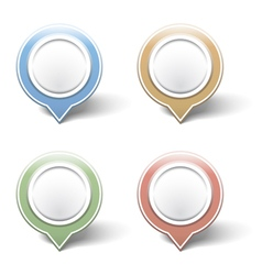 Map Pins vector image vector image