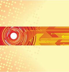 red circle and arrow background vector image vector image