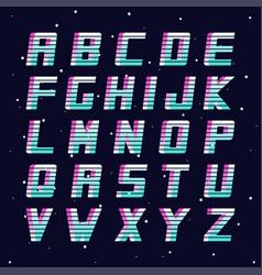 Retro font - fashion 80-90s futuristic vector