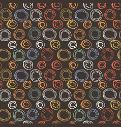 Seamless pattern with grunge circles vector