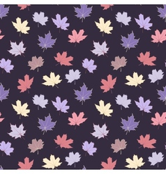 Seamless pattern with maple leaves vector image vector image