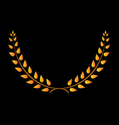 Sign laurel wreath gold 403 vector