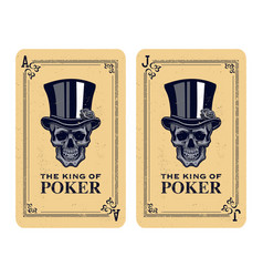 Skull poker card vector