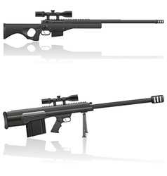 sniper rifle 03 vector image