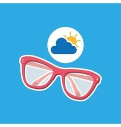 summer vacation design sunglasses fashion icon vector image vector image
