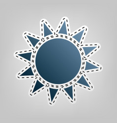 sun sign blue icon with vector image