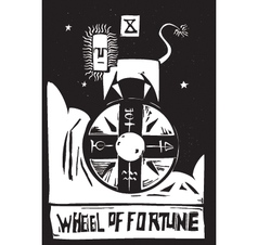 Tarot Card Wheel vector image vector image