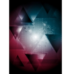 Tech background with triangles vector image vector image