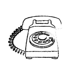 Telephone device vintage service call sketch vector