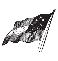 The first flag of the us confederacy vintage vector
