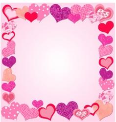 valentine day pink frame vector image