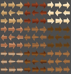 Wooden Arrows vector image