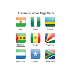 African countries flags set 5 vector