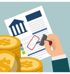 Banking credit coins approved vector
