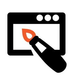Web design icon vector image