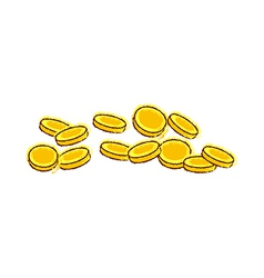 The clinking coins vector