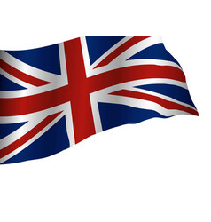 England flag isolated on white background vector