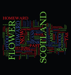 Flower of scotland text background word cloud vector