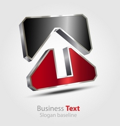 Abstract business 3D logo vector image