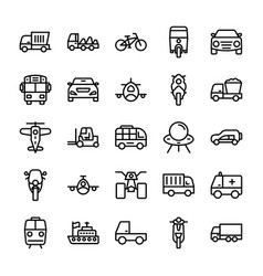 Automobile line icons 6 vector