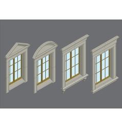 isomentic windows set vector image