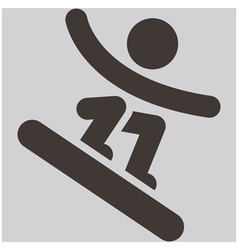 Snowboard icon vector